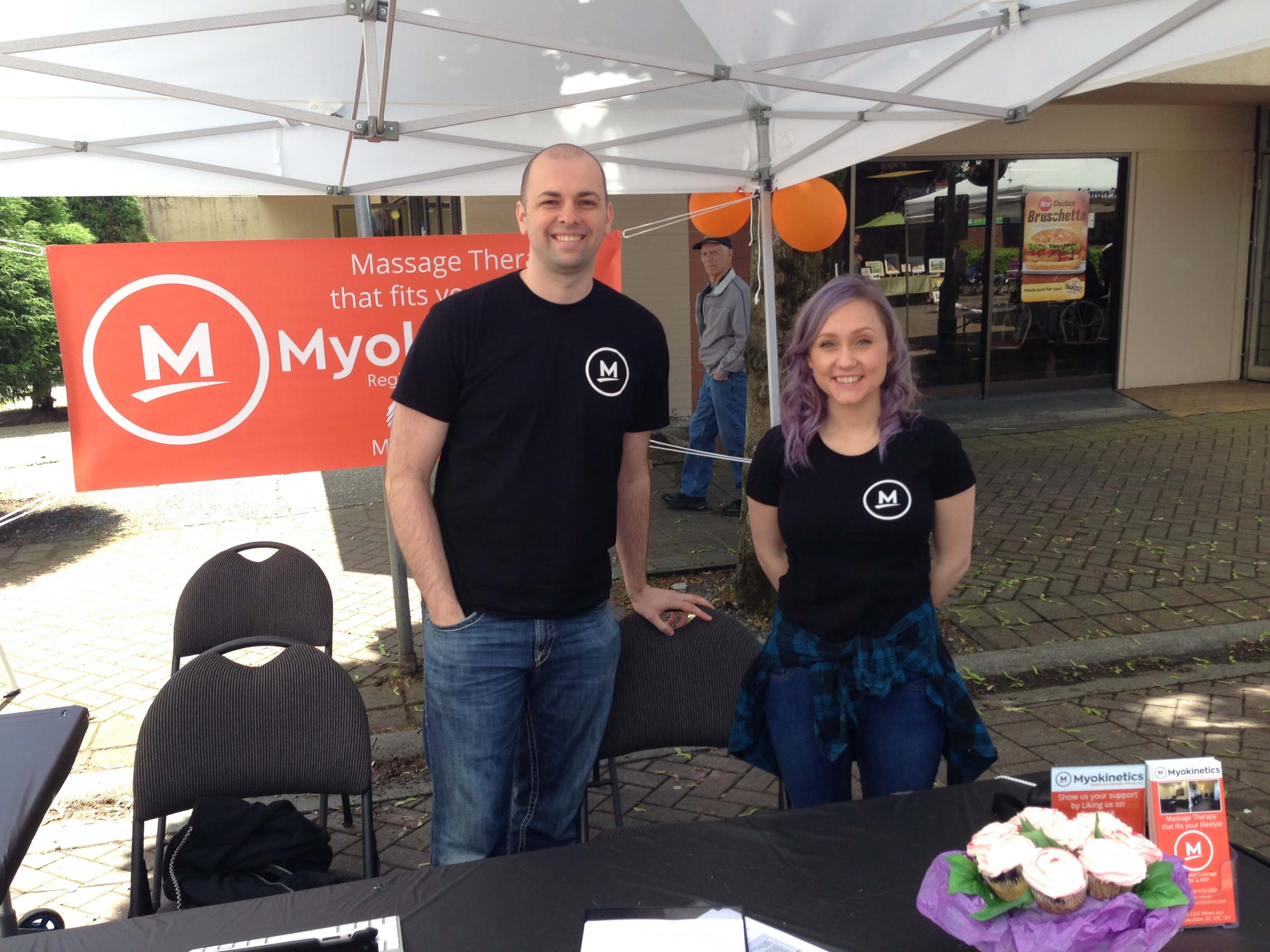 Krys dybowski, rmt and Tess Halldorson, RMT at polish days in port coquitlam